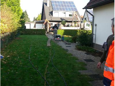 Hausanschluss 23 m, house connection© TERRA AG, Reiden, Switzerland