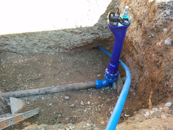Aufweitglocke HDPE-Rohr, expander cone HDPE pipe  © TERRA AG, Reiden, Switzerland