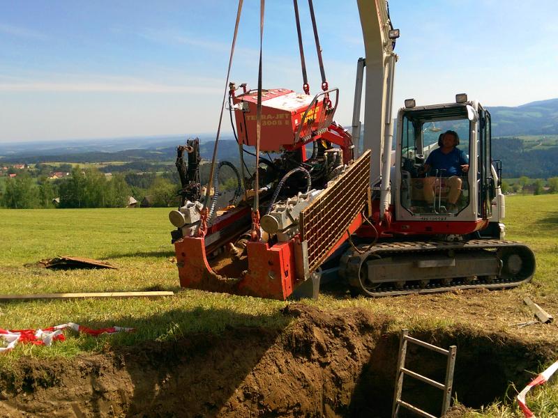platzieren der Maschine, place the machine © TERRA AG, Reiden, Switzerland