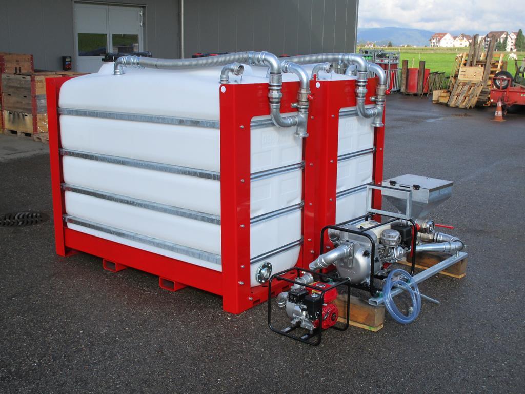 Cuves 4'000 ou 2x 4'000 litres avec brassage en fond