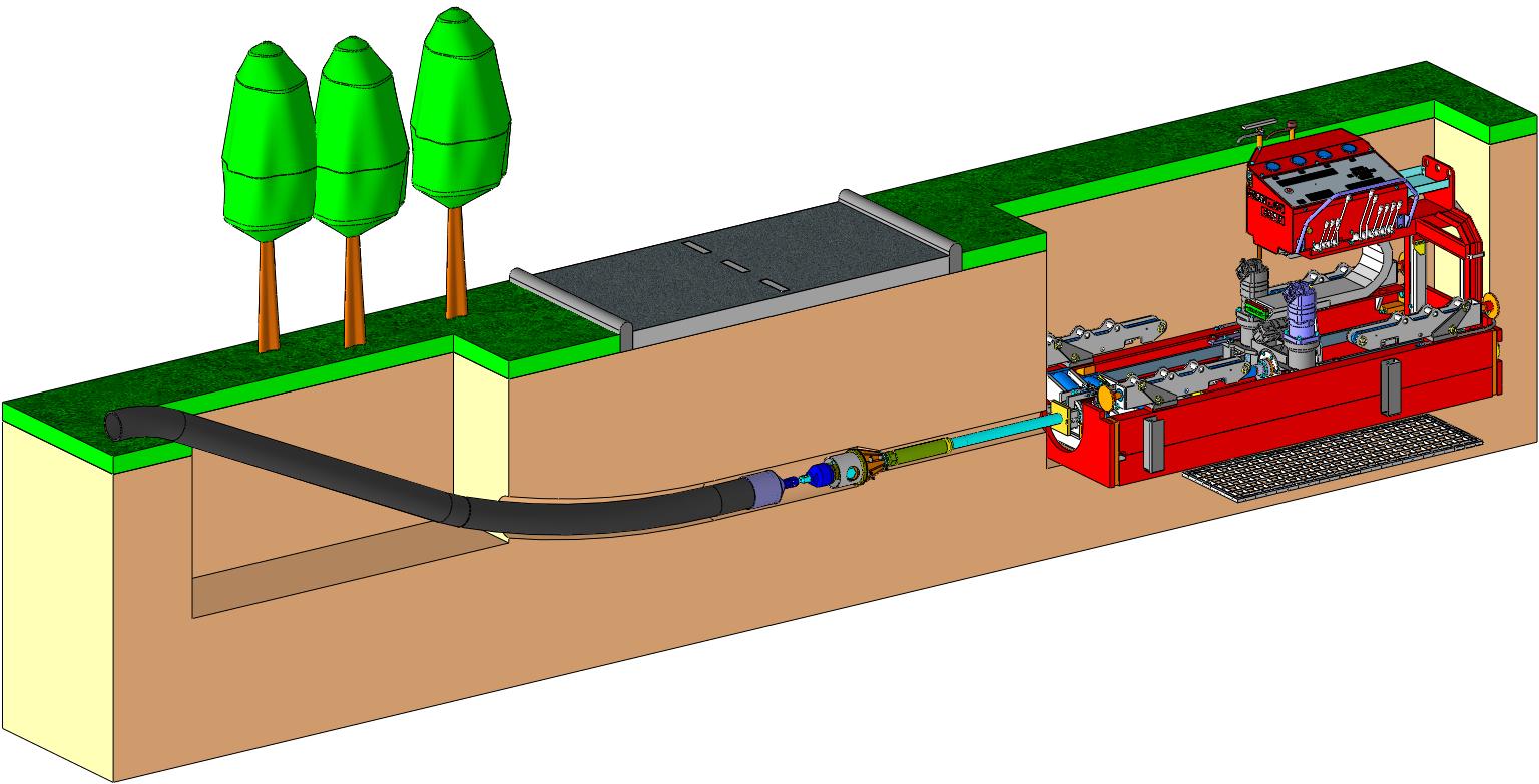 Leistungsstarke Grubenbohranlage für HDD Spülbohren