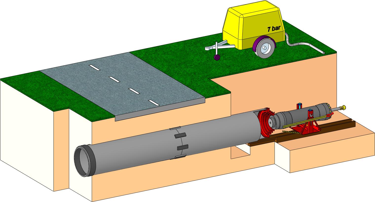 Dynamic Ramming - Steel Pipe Ramming - HDD assist